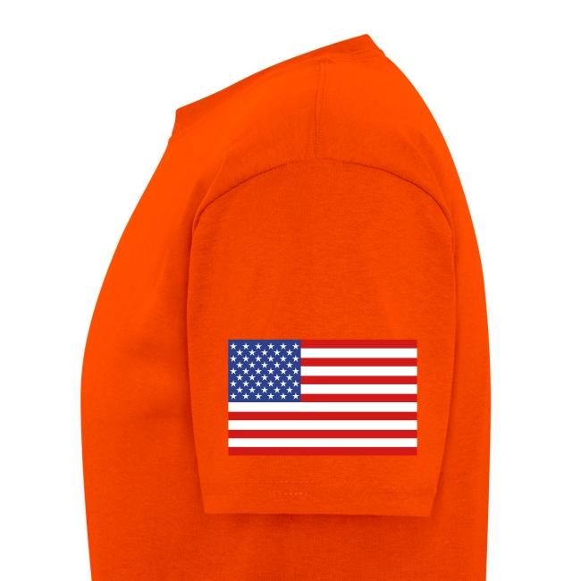 Underground Explorers Orange Logo Tee with Flag