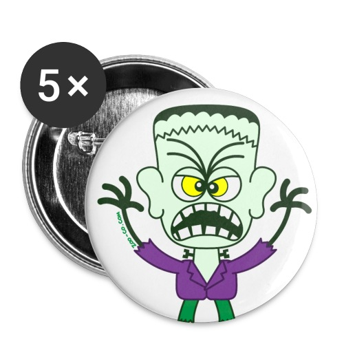Scary Halloween Frankenstein Buttons - Large Buttons