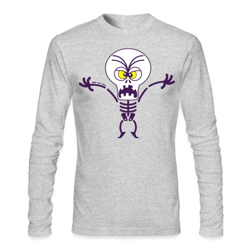Scary Halloween Skeleton Long Sleeve Shirts - Men's Long Sleeve T-Shirt by Next Level