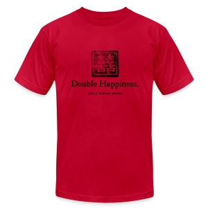 Double Happiness Men's Light T-Shirt - Men's T-Shirt by American Apparel