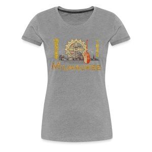 Milwaukee Flag - Women's Premium T-Shirt
