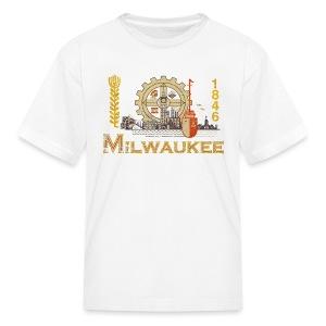 Milwaukee Flag - Kids' T-Shirt