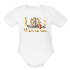 Milwaukee Flag - Short Sleeve Baby Bodysuit