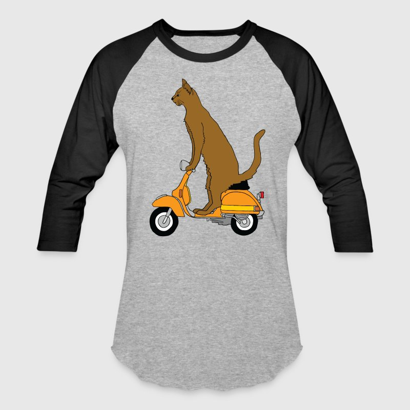 cat on motor scooter T-Shirts - Baseball T-Shirt