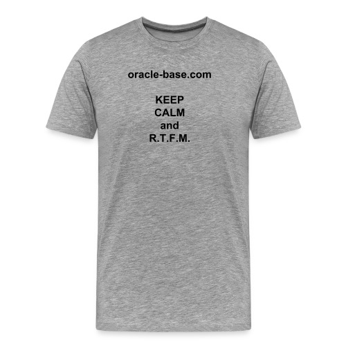 oracle-base.com KEEP CALM and R.T.F.M. - Men's Premium T-Shirt