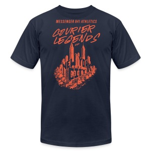 Courier Legend NYC Skyline Tee - Men's T-Shirt by American Apparel