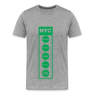 NYC Traffic Light 5 Borough Tee  - Men's Premium T-Shirt