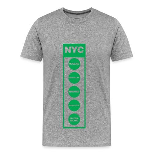 NYC Traffic Light 5 Borough Tee  - Men's Premium T-Shirt