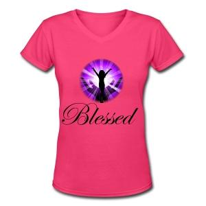 Blessed T-Shirt - Women's V-Neck T-Shirt