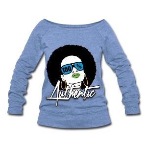 100 % Authentic Womens Wideneck Sweatshirt - Women's Wideneck Sweatshirt