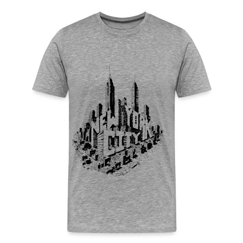 New York City Skyline Tee - Men's Premium T-Shirt