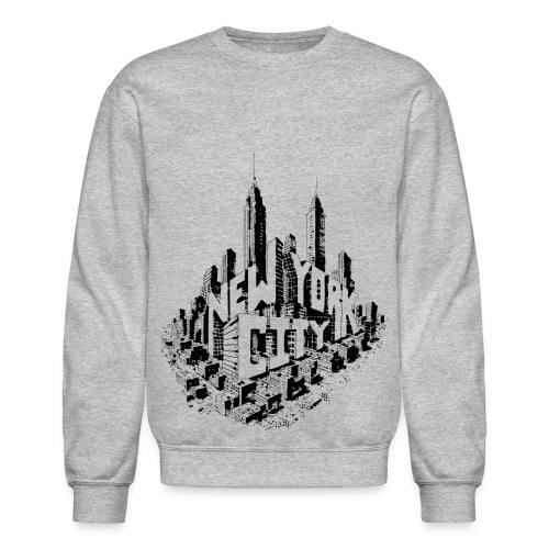 New York City Skyline Crew Sweatshirt - Crewneck Sweatshirt