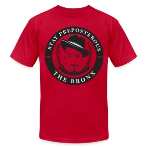 Stay Preposterous Premium Men's Shirt (Red) - Men's T-Shirt by American Apparel
