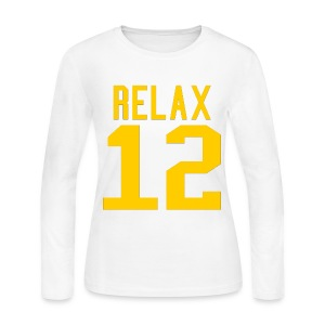 Relax 12 in Yellow - Women's Long Sleeve Jersey T-Shirt