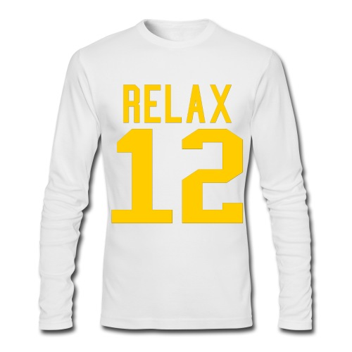 Relax 12 in Yellow - Men's Long Sleeve T-Shirt by Next Level