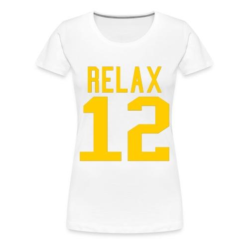 Relax 12 in Yellow - Women's Premium T-Shirt