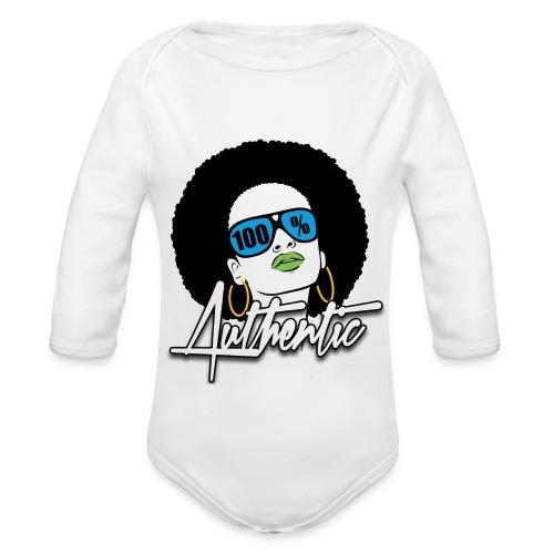 100% Baby Long Sleeve One Piece  - Organic Long Sleeve Baby Bodysuit
