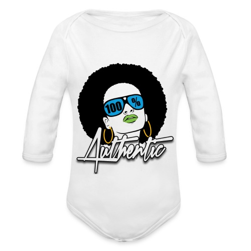 100% Baby Long Sleeve One Piece  - Organic Long Sleeve Baby Bodysuit