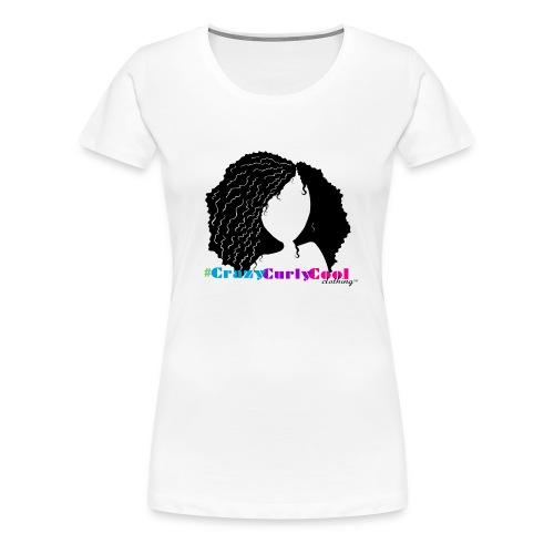CrazyCurlyCool™ Hashtag Tee - Women's Premium T-Shirt
