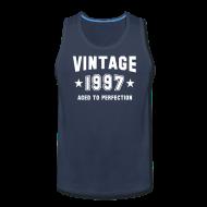 Tank Tops ~ Men's Premium Tank Top ~ Vintage 1997 aged to perfection