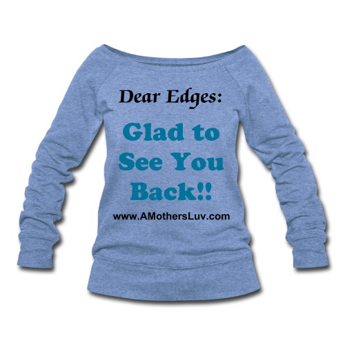 Womens Wideneck Dear Edges Sweatshirt - Women's Wideneck Sweatshirt