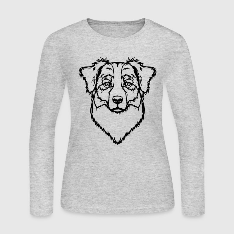Australian Shepherd Long Sleeve Shirts - Women's Long Sleeve Jersey T-Shirt