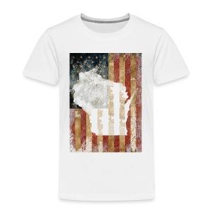 Wisconsin USA Flag - Toddler Premium T-Shirt