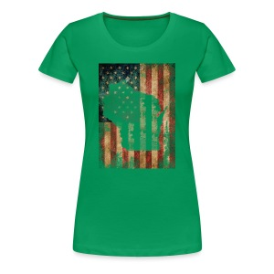 Wisconsin USA Flag - Women's Premium T-Shirt