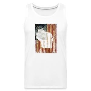 Wisconsin USA Flag - Men's Premium Tank