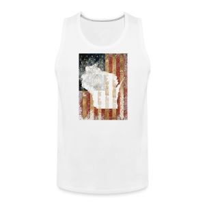 Wisconsin USA Flag - Men's Premium Tank