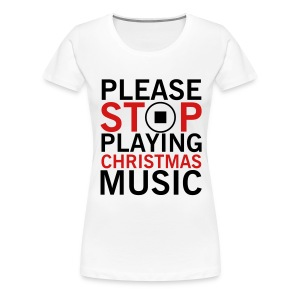 CHRISTMAS MUSIC - Women's Premium T-Shirt