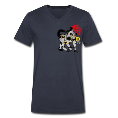 Dog Zodiac: KnightXHound  - Men's V-Neck T-Shirt by Canvas