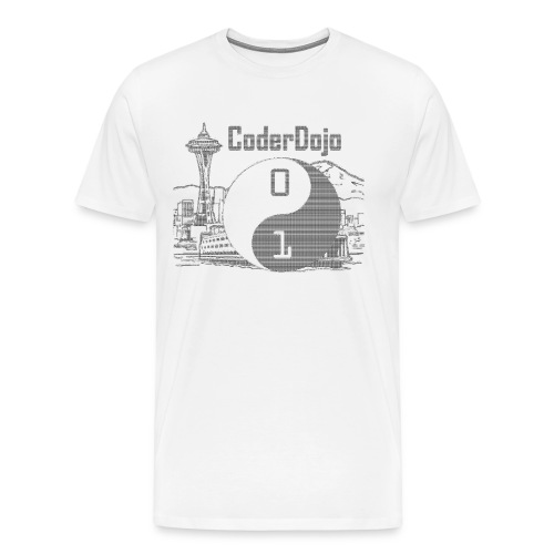 Retro ASCII Logo Men's Premium - Men's Premium T-Shirt