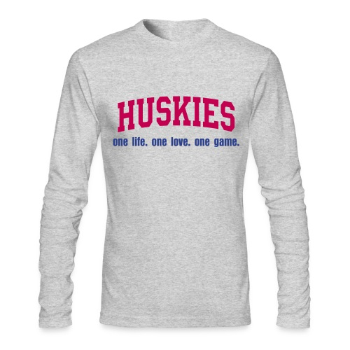huskies - Men's Long Sleeve T-Shirt by Next Level