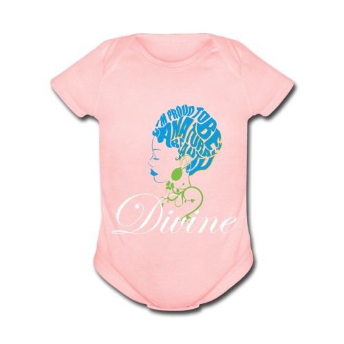 Divine Baby Short Sleeve One Piece - Organic Short Sleeve Baby Bodysuit