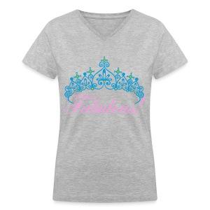 Fabulous Women's Deep V-Neck Marble T-SHirt  - Women's V-Neck T-Shirt