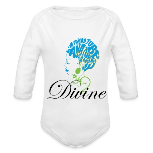 Divine Baby Long Sleeve One Piece - Organic Long Sleeve Baby Bodysuit