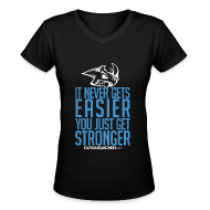 T-Shirts ~ Women's V-Neck T-Shirt ~ Stronger| CutAndJacked | Womens Tee