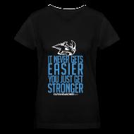 Women's T-Shirts ~ Women's V-Neck T-Shirt ~ Stronger| CutAndJacked | Womens Tee