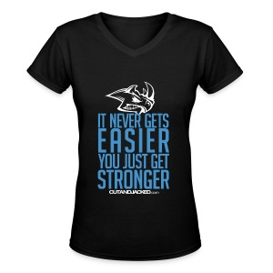 Stronger| CutAndJacked | Womens Tee - Women's V-Neck T-Shirt