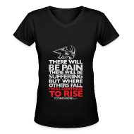 Women's T-Shirts ~ Women's V-Neck T-Shirt ~ There will be pain | CutAndJacked | Womens Tee