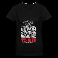 Women's T-Shirts ~ Women's V-Neck T-Shirt ~ There will be pain | CutAndJacked | Womens Tee