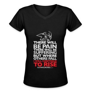 There will be pain | CutAndJacked | Womens Tee - Women's V-Neck T-Shirt