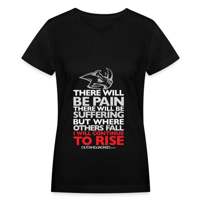 There will be pain   CutAndJacked   Womens Tee