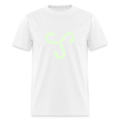 Fishing Hook Propeller - Glow  in Dark Ink - Men's T-Shirt