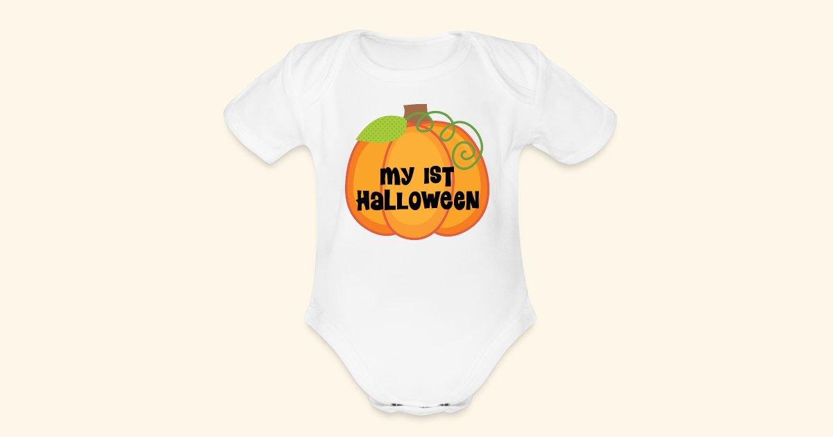 homewise shopper babys first halloween pumpkin cute baby tee organic short sleeve baby bodysuit