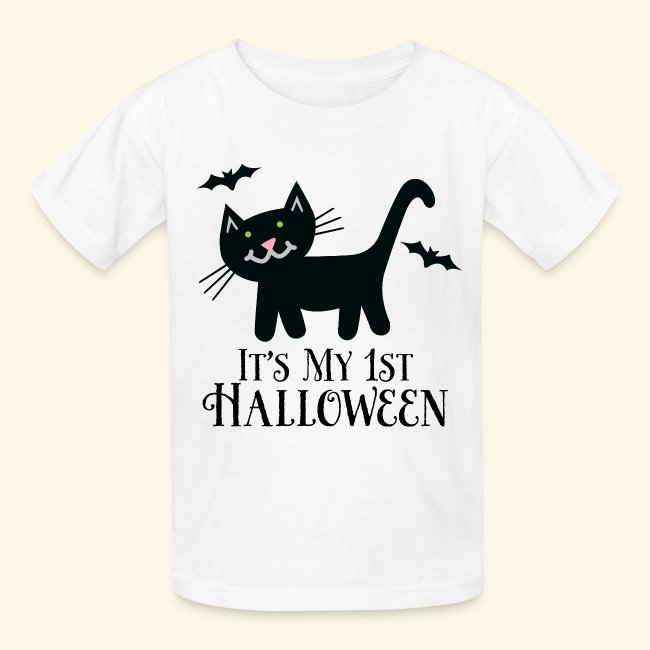 09c5e745f Homewise Shopper | First Halloween Cute 1st Halloween Kids Tshirt ...