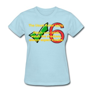 Check Six Usual Rules f blu - Women's T-Shirt