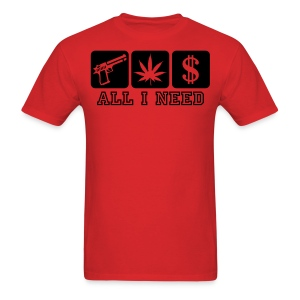 ALL I NEED WITH LOGO ON BACK - Men's T-Shirt
