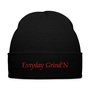 Evryday Grind'N ENT. Beanie Cap Rd/Blk - Knit Cap with Cuff Print